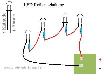 led in reihe schalten